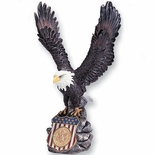 COLORED RESIN EAGLE HOLDS 2INCH INSERT, 15 INCH HEIGHT