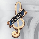 DANCE PIN BLUE ENAMEL