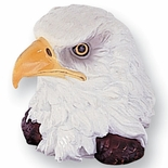HAND PAINT EAGLE HEAD, 4-1/2 INCH