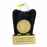 EAGLE TROPHY WITHOUT PLATE, HOLDS 2 INCH INSERT
