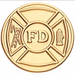 FIRE DEPARTMENT, 2 INCH STAMPED INSERT