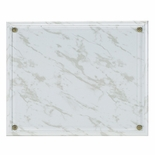 10-1/2X13 WHITE MARBLEIZED PLAQUE HOLDS 8-1/2X11 CERTIFICATE