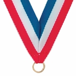 NECK RIBBON,RED, WHITE, BLUE