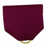 PIN BACK RIBBON, MAROON