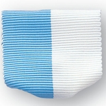 PIN RIBBON LIGHT BLUE & WHITE