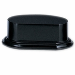 4-1/8 X 5-5/8 X 2-1/4 WOOD OVAL BASE BLACK FINISH