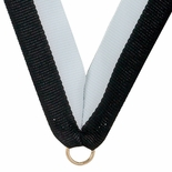 NECK RIBBON BLACK & WHITE