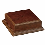 4-1/2 X 4-1/2 X 2-1/8 WALNUT FINISH BASE FOR BOWL OR CUP