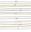 "Neck Chains, sizes 18"", 22"" and 24"""