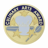 CULINARY ARTS AWARD, 2 INCH ETCHED ENAMELED