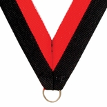 NECK RIBBON BLACK & ORANGE