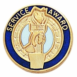 SERVICE AWARD PIN ENAMELED, CLUTCH BACK