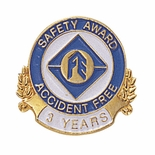 SAFETY AWARD ACCIDENT FREE 3 YEARS PIN