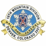 10TH MOUNTAIN DIVISION DENVER COLORADO PIN