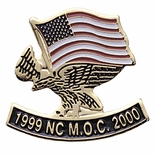 EAGLE AND FLAG PIN