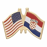 CROSSED FLAG PIN