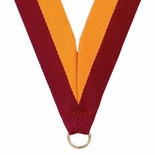 NECK RIBBON MAROON & GOLD