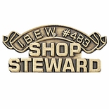 IBEW #483 SHOP STEWARD PIN