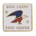 U.S. POST OFFICE SICK LEAVE 2000 HOURS PIN