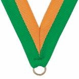 NECK RIBBON GREEN & GOLD