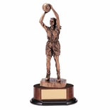 BASKETBALL FEMALE TROPHY, 14 INCH, ELECTROPLATED