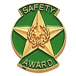 SAFETY AWARD PIN STAR & WREATH