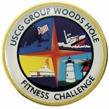 USCG GROUP WOODS HOLE FITNESS CHALLENGE PIN