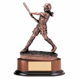 SOFTBALL, FEMALE TROPHY, 11 INCH, ELECTROPLATED