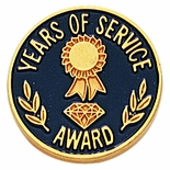 YEARS OF SERVICE AWARD PIN, CLUTCH