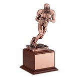 FOOTBALL TROPHY, 12-3/4 INCH, ELECTROPLATED IN ANTIQUE BRONZE
