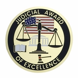 JUDICIAL AWARD OF EXCELLENCE, 2 INCH ETCHED ENAMELED