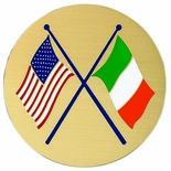 AMERICAN & IRISH FLAGS, 2 INCH ETCHED ENAMELED