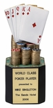 POKER TROPHY, 8 INCH, PAINTED RESIN