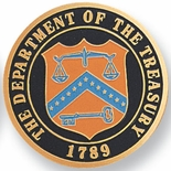 DEPARTMENT OF THE TREASURY, 2 INCH ETCHED ENAMELED
