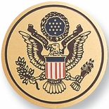 SEAL OF THE UNITED STATES, 2 INCH ETCHED ENAMELED