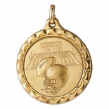 1 1/4 INCH MEDAL FRAME, FOOTBALL 1 INCH MEDALLION - MULTIPLE COLORS