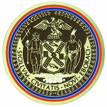 NEW YORK CITY SEAL, 2 INCH ETCHED ENAMELED