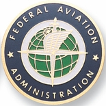 FED. AVIATION ADMINISTRATION, 2 INCH ETCHED ENAMELED