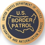 U.S. BORDER PATROL, 2 INCH ETCHED ENAMELED