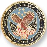 DEPT.OF VETERAN AFFAIRS, 2 INCH ETCHED ENAMELED