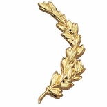 RIGHT WREATH TRIM, GOLD 6-3/4