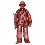FIREMAN PLAQUE MOUNT BRASS, 5-5/8