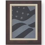 8 X 10 INCH PLAQUE WITH SCREENED U.S. FLAG PLATE