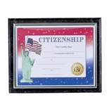 CERTIFICATE PLAQUE 10 1/2 INCH X13 INCH