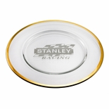 12-1/2 INCH CHARGER PLATE WITH GOLD LEAF BAND