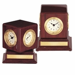 ROSEWOOD CLOCK, PHOTO, CUBE WITHOUT PLATE