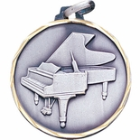 1-1/4 INCH PIANO MEDAL - MULTIPLE COLORS