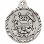 COAST GUARD PEWTER KEY CHAIN