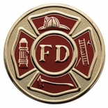 FIRE DEPARTMENT, 2 INCH LITHO INSERT
