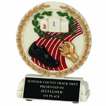 5-1/2 INCH TRACK STONE RESIN TROPHY
